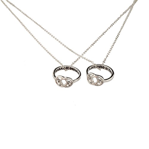 Lux Accessories A Promise Is Forever Infinity Knot BFF Best Friends Matching Ring Necklace Set. (Best Friends Rings compare prices)