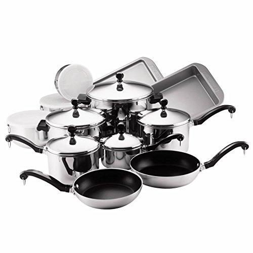 Farberware Classic Stainless Steel 17-Piece Cookware Set (Farberware Classic Stainless compare prices)