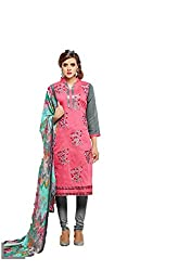 KANHA TRADING Women's Chanderi Cotton Dress Material(KANHA TRADING 723_Multicolor_Freesize)