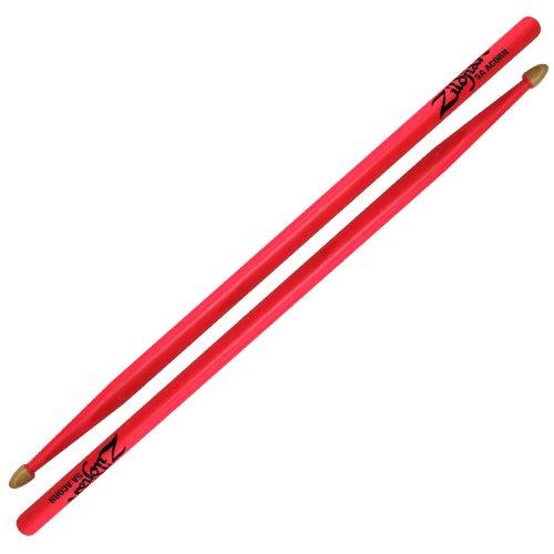 Zildjian 5Acwdgp 5A Acorn Drumsticks, Neon Pink