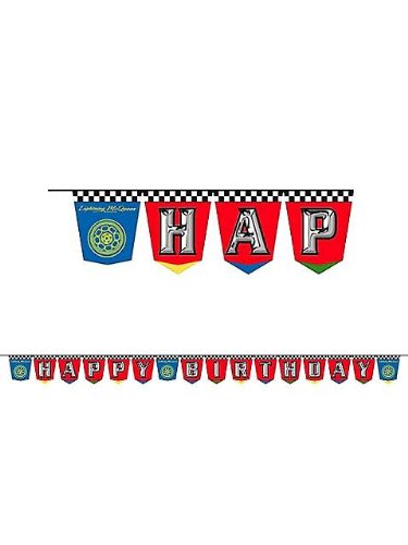 Disney Cars Grand Prix Birthday Banner - 1