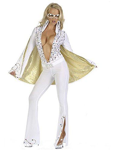 Multi Sequined Elvis Jumpsuit Costume