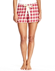 Limited Collection Pure Cotton Checked Pyjama Shorts