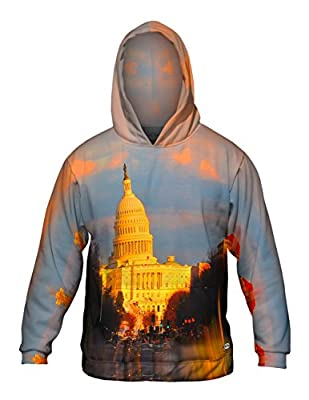 Yizzam- Us Capital Washington Dc Glow -Allover Print - Mens Hoodie Sweater