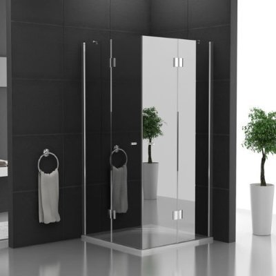 duschabtrennung ohne rahmen echtglas eck dusche glasdusche ca 100 x 100 x 200 cm. Black Bedroom Furniture Sets. Home Design Ideas