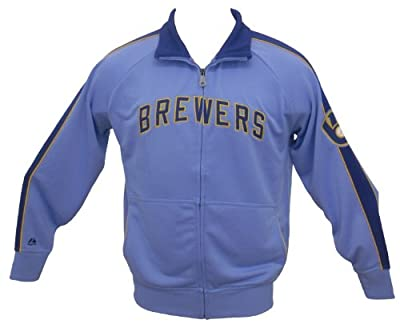 MLB Milwaukee Brewers Profector Cooperstown Track Jacket