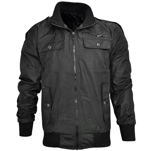Soulstar Carriccore Waxed Jacket Black Mens Size L