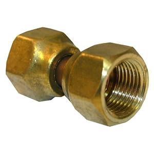 LASCO 17-5931 3/8-Inch Female Flare Swivel Brass Adapter