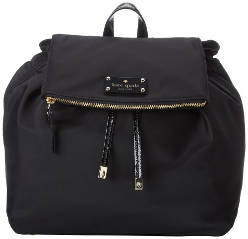 B00FLCQ8MG kate spade new york Nylon Patten Backpack,Black,One Size