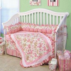 Paisley Crib Bedding Sets 8158 front