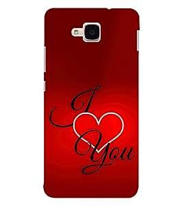 EPICCASE I Love You Mobile Back Case Cover For Huawei Honor 5c (Designer Case)