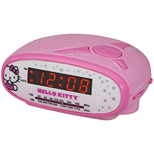 brand new hello kitty am fm digital alarm clock radio for girls baby. Black Bedroom Furniture Sets. Home Design Ideas