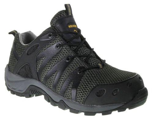 Wolverine Men'S Amherst Safety Toe Shoe,Black,13 M Us