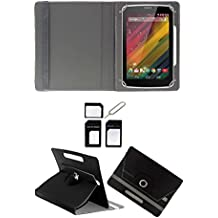"Hello Zone With Free Sim Adapter Kit Samsung Galaxy Tab 3 7.0 T211 360° Rotating 7"" Inch Flip Case Cover Book..."