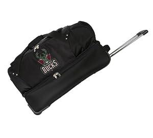 NBA 22-Inch Drop Bottom Rolling Duffel Luggage, Black by Denco