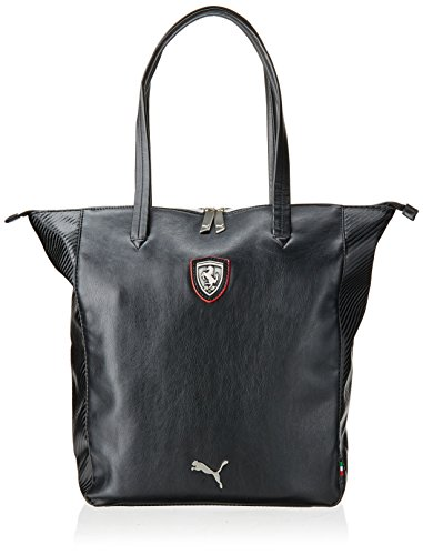 Puma Ferrari ls,-shopper-Borsa a mano, taglia unica, colore: nero