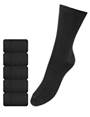 5 Pairs of Freshfeet™ Supersoft Socks with Silver Technology