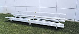 15 Stationary Aluminum Bleachers 2 Rows by SSG / BSN