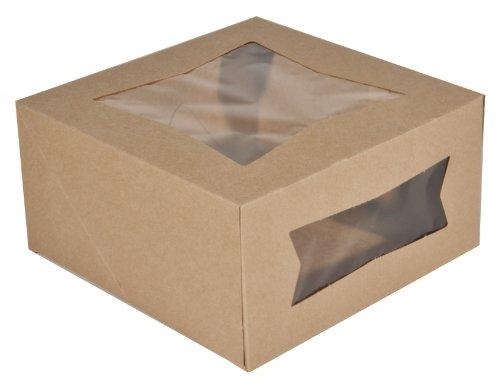 Southern Champion Tray 24053K Kraft Paperboard Window Bakery Box, 8