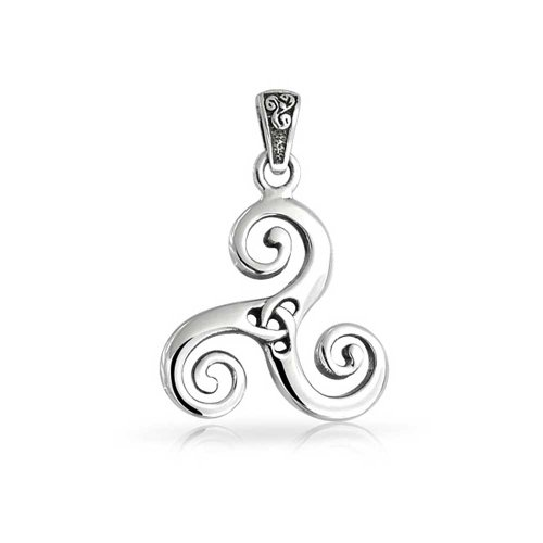 Bling Jewelry Sterling Silver Celtic Swirl Triquetra Trinity Knot Pendant
