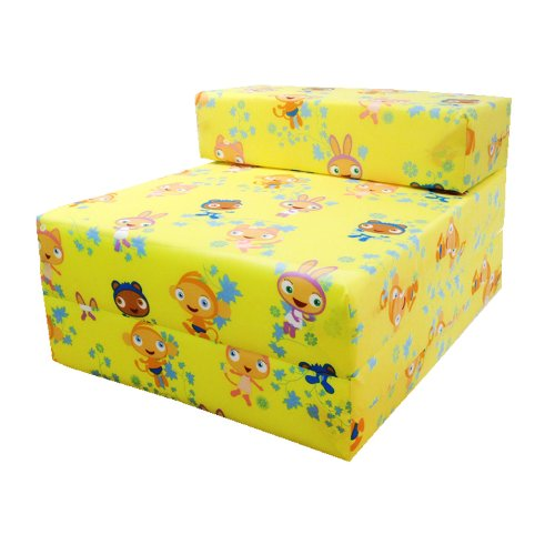 Children's Comfy Fold Out Foam Z Bed in Waybaloo Design. Soft, Colourful, Comfortable & Lightweight with a Removeable Cover