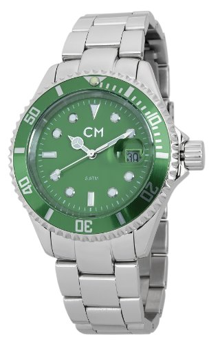 Carlo Monti Varese Men's Quartz Watch with Green Dial Analogue Display and Silver Stainless Steel Bracelet CM507-191