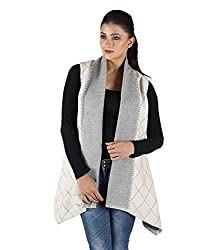 Owncraft Women's Woolen Capes (Own_532_White_Medium)