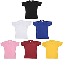 Oleva Women's Poly Cotton Slim Fit T-Shirt - Combo of 6 (OMD 17, Multi Color, XXL)
