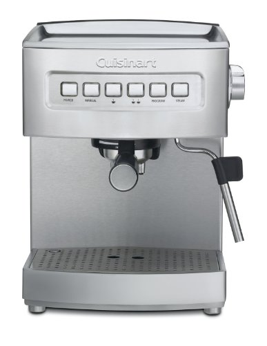 Discover Bargain Factory Refurbished Cuisinart EM-200 Programmable 15-Bar Espresso Maker, Stainless ...