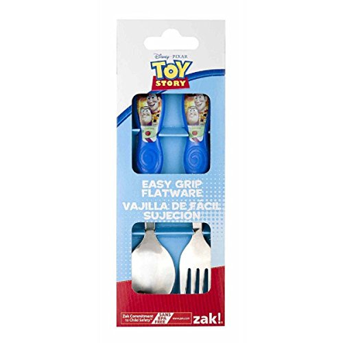 Disney Toy Story Easy Grip Toddler Fork and Spoon Flatware Set - 1