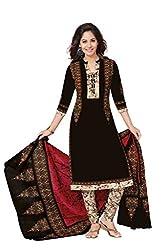 Aarvi Women's Cotton Unstiched Dress Material Multicolor -DM16