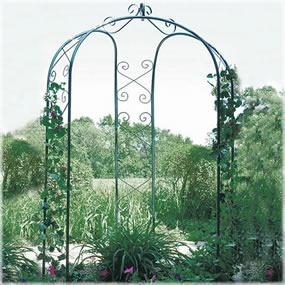3-sided gazebo arch creates a charming focal point in any yard or garden.