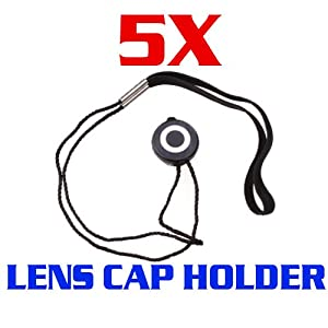 CowboyStudio 5 X Universal Lens Cap Keeper Holder with Elastic Band for All DSLR Camera Canon, Nikon, Olympus, Sony Camera