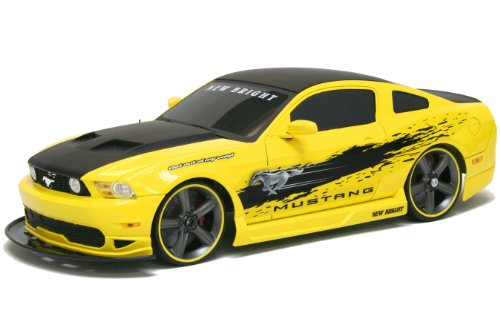 New Bright 1:10 Remote Control Car 6V Mustang GT-Yellow