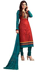 Vivacity Women's Cotton Unstitched Dress Material (Printed-02_Maroon_Free Size)