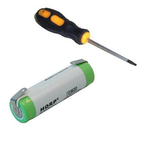 HQRP Battery for Philips Norelco HP6336 HP6337 HQ5812 HQ5812/43 REFLEXPLUS HQ7120 7180XL 7183XL 6617X 6618X 6843XL 6853XL HP2750 T2000 138-10611 4602X 5814XL RAZOR-19 Shaver + Screwdriver and Coaster