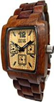 Tense 3 Multi Eye Hypoallergenic Mens Watch Sandalwood Wood J8302S