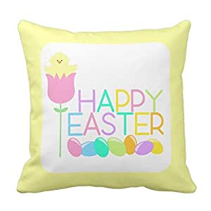 Amazon.com - Create Lists Happy Easter Tulip Chicks 20x20inch Customized Square Throw Pillow ...