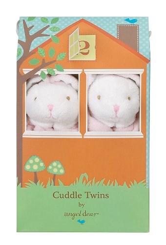 Angel Dear Cuddle Twin Set, Floppy Ear Pink Bunny
