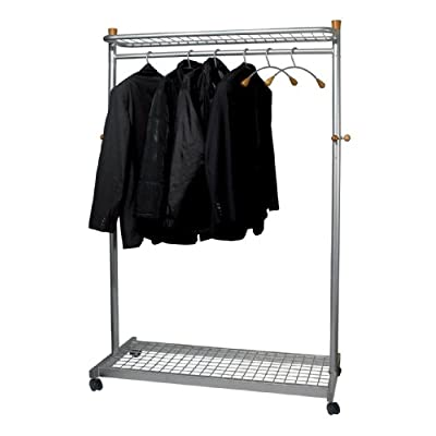 Alba Coat and Garment Rack Mobile Lockable Castors