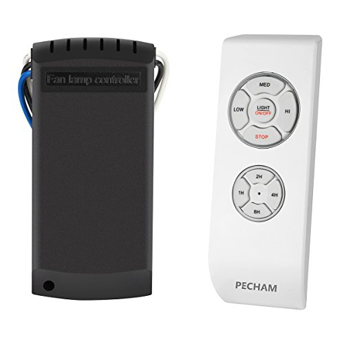 PECHAM F2 Universal Ceiling Fan Lamp Remote Controller Kit & Timing Wireless Remote Control for Ceiling Fan , Scope of Application [Home/office/ hotel /the club / display hall /restaurant](White) (White Remote Control Ceiling Fan compare prices)