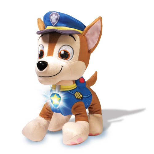 Paw Patrol - Deluxe Lights and Sounds Plush - Real Talking Chase JungleDealsBlog.com