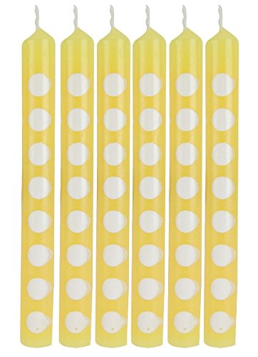 Yellow Polka Dot Cake Candles (12 ct) - 1