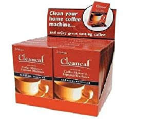 "Harold Import 0021PRO ""Cleancaf"" Coffee Maker & Espresso Machine Cleaner & Descaler - Pack/12"