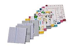 Riqueza Unisex Handkerchief (Pack Of 12) (RFC 006_Multi_Free Size)