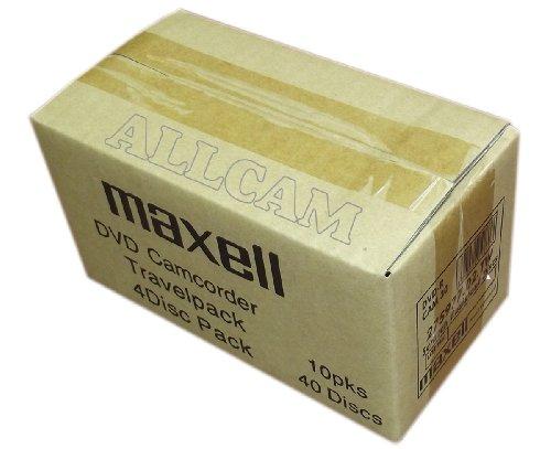 Maxell mini DVD-R supporti registrabili in caso sottile (40 dischi di 8 centimetri DVD-R) per DVD camcorder o la conservazione di dati generali