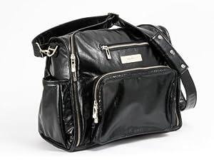 Ju-Ju-Be Be Fabulous Earth Leather Diaper Bag, Black/Dizzy Daisies