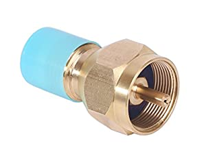 DozyAnt Universal Safest Propane Refill Adapter- 100% Solid Brass Regulator Valve Accessory for all 1 LB Tank Small Cylinders by DOZYANT