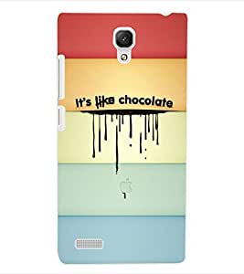 ColourCraft Its Like Chocolate Back Case Cover for XIAOMI REDMI NOTE