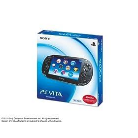 PlayStation Vita (�v���C�X�e�[�V���� ���B�[�^) 3G/Wi-Fi���f�� �N���X�^���E�u���b�N ����� (PCH-1100AB01)